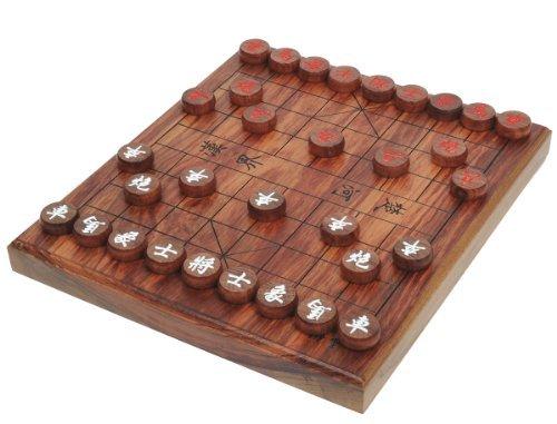 Xiangqi Set - Brett und Steine massiv aus Palisander - die Urform des Schach - chinesisches Schachspiel - Elefantenschach - Chinese Chess