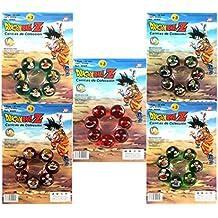 Outletdelocio. Coleccion completa bolas Dragon Ball Z. Set de 35 canicas de cristal de 22mm de diametro.