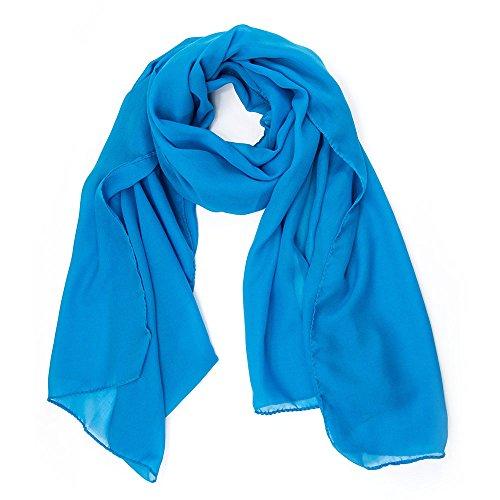 MANUMAR Schal für Damen einfarbig   Hals-Tuch in hellblau als perfektes Herbst Winter Accessoire   Klassischer Damen-Schal   Stola   Mode-Schal   Geschenkidee für Frauen und Mädchen