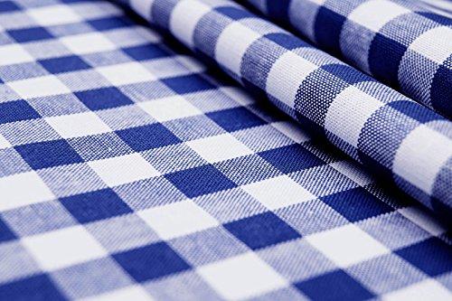 CENTRO - carreaux bleu blanc - 100% coton - vichy - couleur Tissu - vendu au mètre