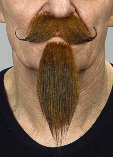Mustaches Selbstklebende Neuheit Napoleon III Imperial Fälscher Bart und Fälscher Schnurrbart für Erwachsene Ingwer - Blonde Schnurrbart Kostüm