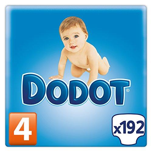 Dodot - Pañales para bebé, con microperlas absorbentes, Talla 4, 192 Pañales
