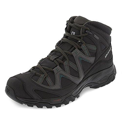 Salomon Cagliari Mid GTX Suede Hiking Shoes, Men's UK 9 (Phantom/Magnet/Bistro Green)