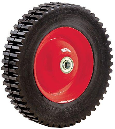 Shepherd Hardware 3355e-semi-pneumatic Gummi Reifen, Stahl Hub mit Kugellager, Gear Lauffläche, 1/2Offset Achse Durchmesser