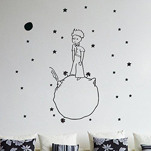 Little Prince Wand Aufkleber Vinyl Aufkleber Weihnachten Kinder Kinder Kunst-Silhouette (Vinyl-wand-aufkleber)
