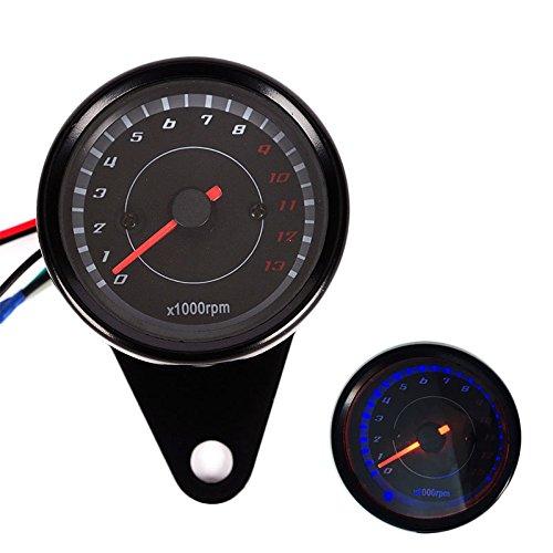 LanLan kit per moto,Calibro del motociclo dell'esposizione del LED Digital del tachimetro del motociclo di CC 12V modificato
