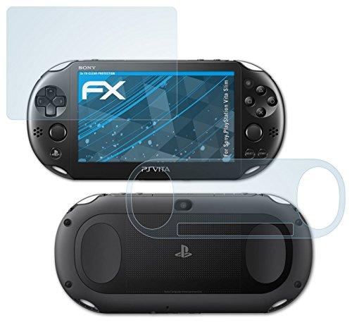 Sony PlayStation Vita Slim Schutzfolie – 3er Set atFoliX FX-Clear kristallklare Folie Displayschutzfolie