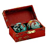 Chinese Health Balls with Chimes; with Dragon(Power & Phoenix(Happiness & Luck) Symbols; 3.5cm Diameter. Health Balls Stimulate Acupressure Points in the Hands. Balls come in a traditional chinese presentation box. by Spiritual Gifts