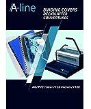A Line–8005543tapas de encuadernación carátulas protectores transparentes, DIN A4, 0.15mm de grosor, PVC, 100unidades), transparente
