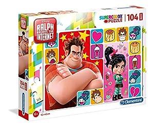 Clementoni Supercolor-Ralph Breaks The Internet-104Maxi Piezas Puzzle, 23722, Multicolour