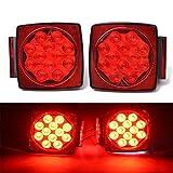HQAP 12V LED Rücklicht Anhänger mit E11 PRÜFZEICHEN Universal Rückleuchten Heckleuchten Bremsleuchte Blinker Rot für Hänger Anhänger LKW Lastwagen KFZ für unter 80 Zoll Bootsanhänger PKW Trailer