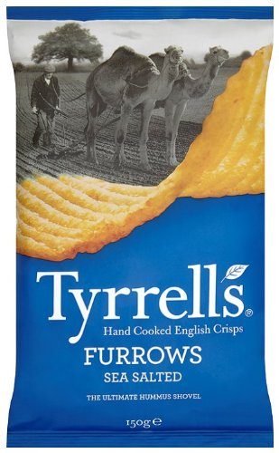 Tyrrell's Chips Ondulées au Sel de Mer 150 g - Lot de 12