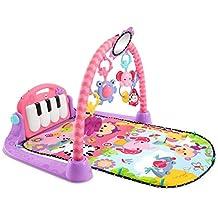 Fisher-Price - Gimnasio-piano pataditas, color rosa (Mattel BMH48)