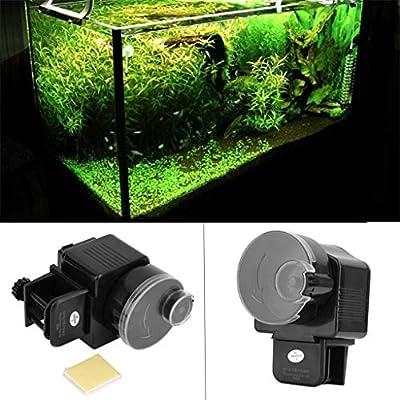 Muamaly Automatische Futterautomat für Fische Aquarium, Automatisierte Futterspender Fischfütterung mit digitaler Timer