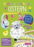 Kreatives Bastelset: Ostern: Set mit 33 bunten Papierbögen, Vorlagen zum Heraustrennen, Stickern...