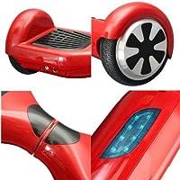 كروني دي1 سكوتر كهربائي ذاتي التوازن، سمارت، عجلتين مع بطارية, أحمر