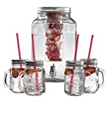 Swan SWKA8010 N Glass Garden Party Drinks Dispenser Set, Trasparente, 8 litro
