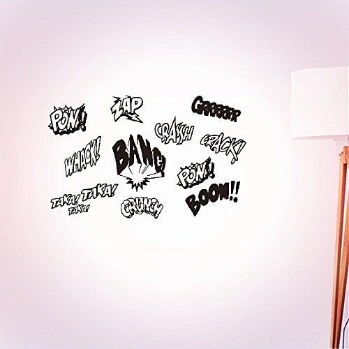 wandaufkleber küche Vinyl Art Room Mural Posters Sound Pow Bang Boom home décor
