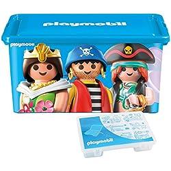 Playmobil 064672–gran caja de almacenaje 23L + caja con divisiones–Mixta