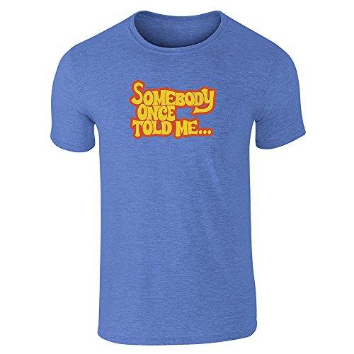 Pop Threads Herren T-Shirt Gr. X-Large, Heather Royal Blue