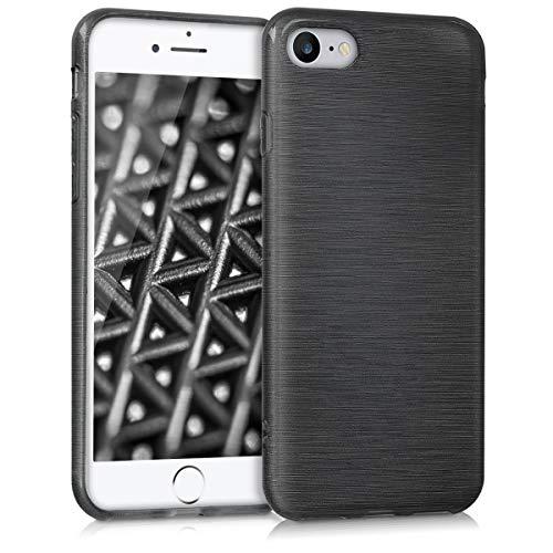 kwmobile Apple iPhone 7/8 Hülle - Handyhülle für Apple iPhone 7/8 - Handy Case in Anthrazit Transparent