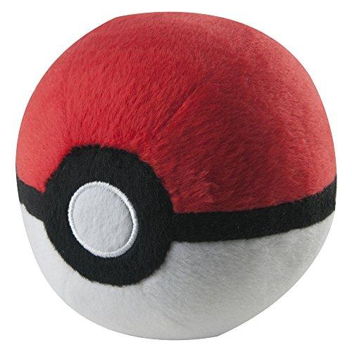 Figur Nintendo Kostüm - TOMY Pokémon Plüsch Pokéball in rot-weiß - hochwertiges Spielzeug für Kinder ab 3 Jahre