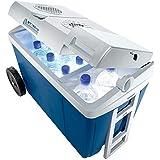 Berger Kühlbox ACDC W38, blau/grau, 37 Liter, Kühltruhe mit 12/230 Volt Anschluss für PKW, LKW, Partykeller und Camping