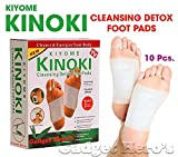 #3: Kinoki Cleansing Detox Foot Patches 10 Adhesive Pads Kit Natural Unwanted Toxins Remover
