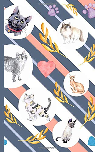 Cute Cat Lover Journal Notebook - Mix Breeds: Small DIY Blank Lined Travel Writing Note Book (Cat Humor Gifts Vol 2, Band 2) (Tail-mix-katze)