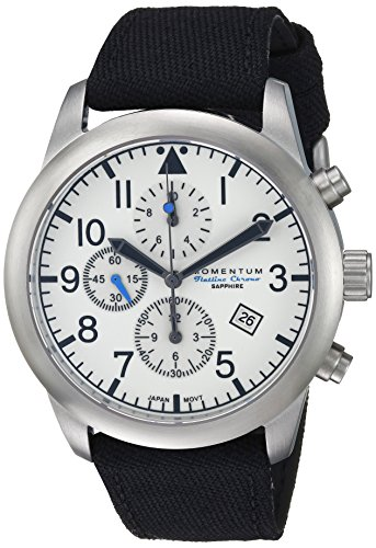 Momentum Men's Analog Japanese-Quartz Watch with Canvas Strap 1M-SN34LS6B