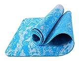 Certificado bienes 6mm yoga mat, azul