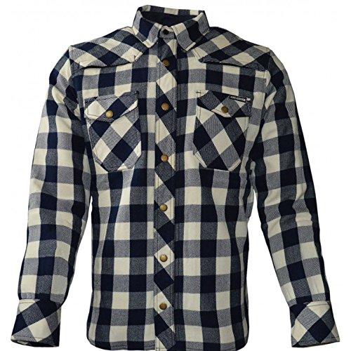 King Kerosin Speed Camiseta Air Kevlar Marina/Cream cuadros motocicleta Biker–Camisa