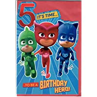 Official PJMasks Age 5 Birthday Card