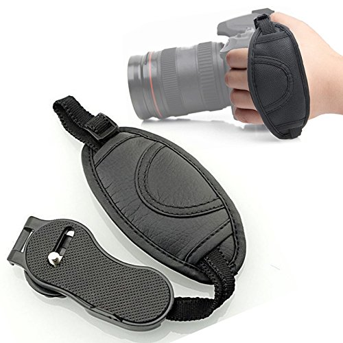 Handschlaufe aus Leder, Fallsicherung für alle SLR, DSLR Digitalkameras