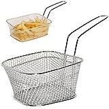 Unbekannt 1 Stück _ Mini - Korbschale mit Griff -  GROß  - Edelstahl - Pommeskorb - Korbschälchen mit Griff - Servierkorb Behälter - z.B. für Pommes Frites - Korb / T..