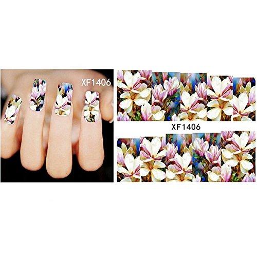 Adesivi unghie nail art, 3d decalcomania del chiodo alla moda di halloween decalcomania autoadesiva del modello dell'orchidea artificiale di forma dell'elefante autoadesivi decalcomanie decorazione