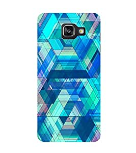 SAMSUNG GALAXY A5 2017 BLUE LINES PRINTED BACK CASE COVER by SHAIVYA