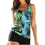 HUIHUI Swimming Costume Padded Swimsuit Push Up Bikini Sets Swimwear (Grün,XXXL)