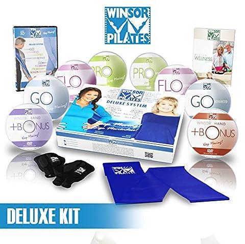 Winsor Pilates Deluxe–8DVD de flexibles, gants, bande de résistance, Wellness Guide
