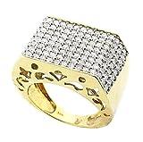 Rings-midwestjewellery.com MWJ-101107 - Anillo de hombre de oro amarillo de 10K y diamantes de 3ct (ancho 18 mm)