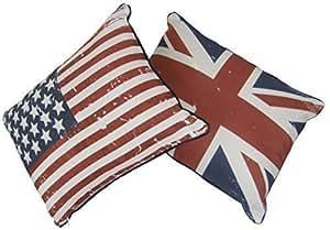 UNION JACK/STARS STRIPES USA FLAGGE &, GEFÜLLT, ROT, BLAU, WEISS, 30 X 40 CM, GEFÜLLT