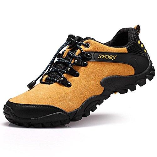 Uomo Scarpe sportive Scarpe da trekking Scarpe di pelle Antiscivolo Scarpe da viaggio Scarpe da corsa Scarpe da lavoro formatori euro DIMENSIONE 39-44 brown