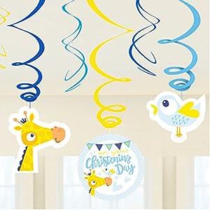 Amscan-9901958en tu bautizo día azul remolino decoraciones
