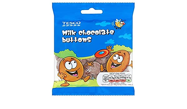 Tesco Milk Chocolate Buttons 70g Amazoncouk Grocery