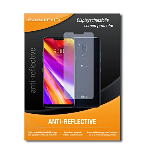 SWIDO Schutzfolie für LG G7 ThinQ [2 Stück] Anti-Reflex MATT Entspiegelnd, Hoher Härtegrad, Schutz vor Kratzer/Bildschirmschutz, Bildschirmschutzfolie, Panzerglas-Folie