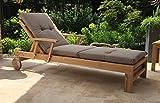 Kissen zu Gartenliege Liegestuhl Sonnenliege Relaxliege - Sand