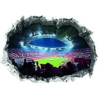 FC Bayern München Wandtattoo 3D für Tapete | Sport Fanartikel mit Allianz Arena Motiv 3D | Stadion Motivfolie problemlos anzubringen | Fussball Wandbild zum Aufkleben [70 x 100 cm]