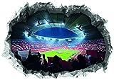 FC Bayern München Wandtattoo 3D für Tapete | Fanartikel mit Allianz Arena Motiv 3D | Stadion Motivfolie problemlos anzubringen (70 x 100 cm)