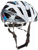 Alpina Erwachsene Valparola Rc Fahrradhelm, White-Darksilver-Blue-Red, 58-63