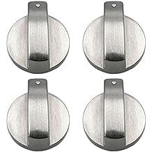 4 PCS Metal 8mm Universal Plata Cocina de gas Botones de control Adaptadores Horno Interruptor Cocina